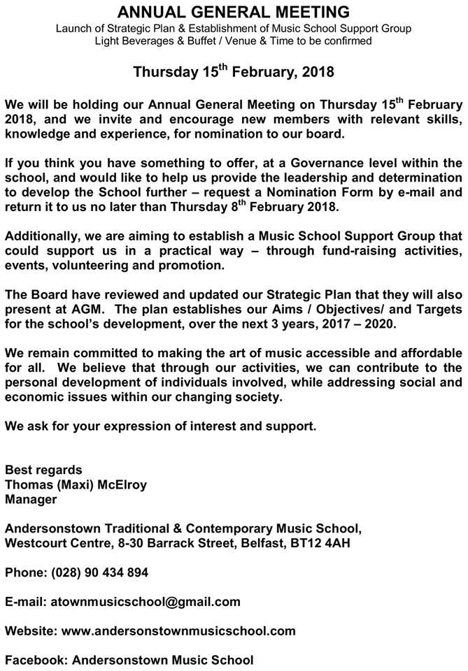 AGM 2018 Notice